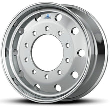 "Load image into Gallery viewer, 22.5 x 12.25 Hub Pilot 10 x 285mm Alcoa Dura-Bright® 12.25 Flat Face Wheel 4.75"" offset"