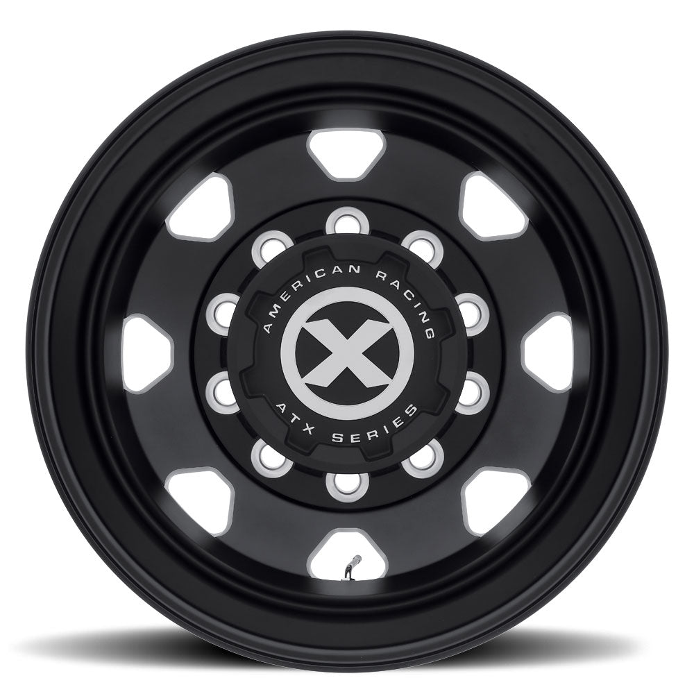 Black Aluminum 24.5 Semi Outer Dual Truck Wheel