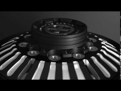 "24.5 Black Aluminum ""Roulette"" Wheel Kit"