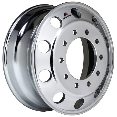 19.5x7.50 Hub Piloted Accuride Wheel-Machine (Matte) Finish