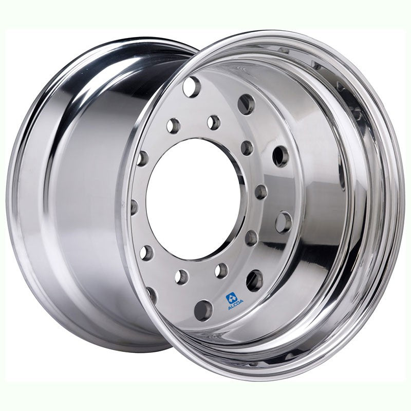 "22.5x14 Hub Pilot X-ONE Alcoa 0"" Offset-Polished In (Drive/Trailer)"