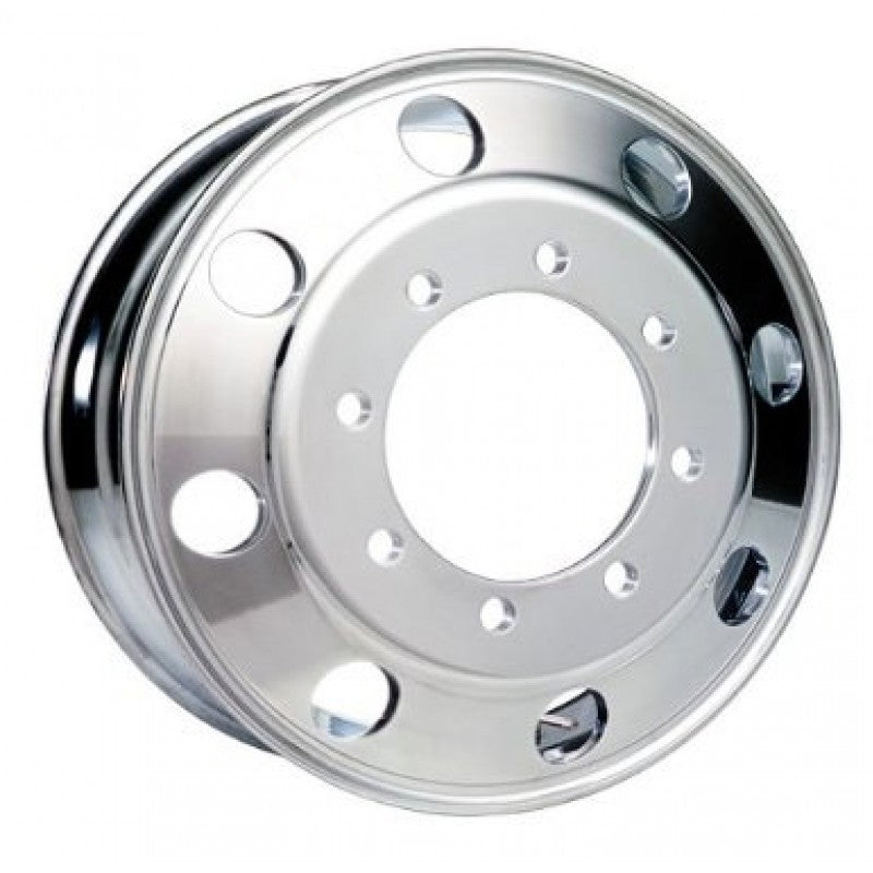 19.5x7.50 Hub Pilot Accuride Aluminum Wheel-Polished In (Drive/Trailer)