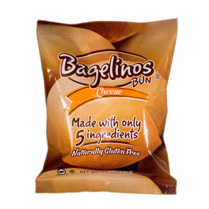 Bagelinos Cheese Original Bun, Gluten-Free, 1.6 OZ, Healthy, Delicious, Certified