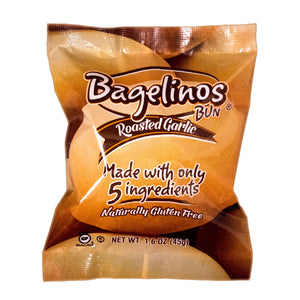 Bagelinos Garlic Bun, Gluten-Free, 1.6 OZ, Healthy, Delicious, Certified