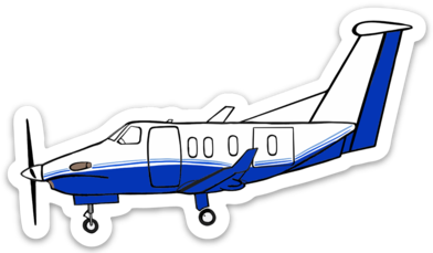 PC-12 Flying Pickup Sticker