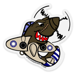 Daddy Shark (Clear Background) P-40 Sticker