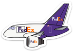 FedEx 757 Sticker
