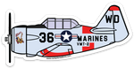 T-6 Texan General's Mistress Sticker-Large