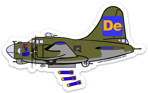 B-17 DeWeather Bomber Sticker