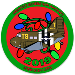 C-47 Southern Cross Christmas Lights Flights Round Sticker