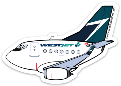 737 Westjet Sticker