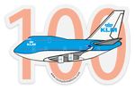 747-400 100 Years KLM Sticker