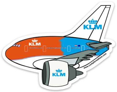 777 Flying Dutchman Orange Sticker