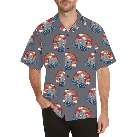 Elephant WW2 Logo Hawaiian Shirt...SHIPPING INCLUDED!!!