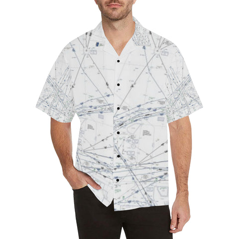 Pacific High Enroute Hawiian Chart Hawaiian Shirt....Includes Shipping!!!