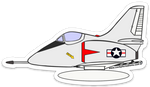 A-4 Skyhawk (with tank) Sticker