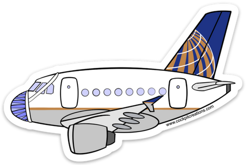 A 320 United Mask Sticker