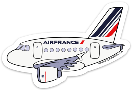 A 320 Air France Sticker