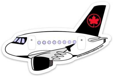 Air Canada A 320 Sticker