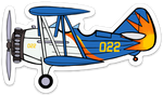 Allegiant Stearman Sticker-Large