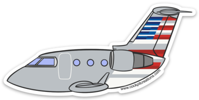 AE CRJ Sticker