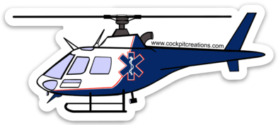 Astar Helicopter Sticker-Large