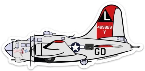B-17 Yankee Lady Yankee Air Museum Sticker
