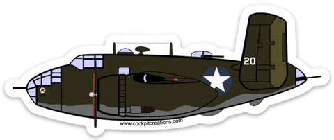 B-25 11th Bomber Squadron Sticker