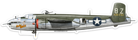 B-25 Sandbar Mitchell Classic Large Sticker
