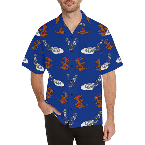97th Roos Blue Hawaiian Shirt...Shipping Included!!!