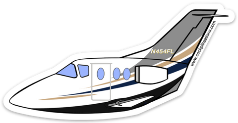 Beechjet 4FL Sticker