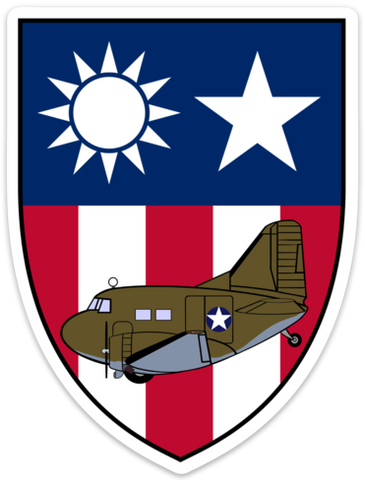 C-47 Burma Patch CBI Sticker