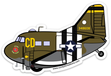 C-47 Betsey's Biscuit Bomber Sticker