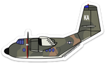 C-7A Caribou Sticker