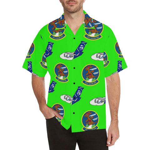 97th Airlift Sq Neon Green Hawaiian Shirt...Shipping Included!!!