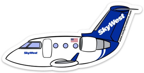 CRJ SkyWest Sticker