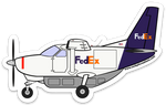 Caravan FedEx Sticker