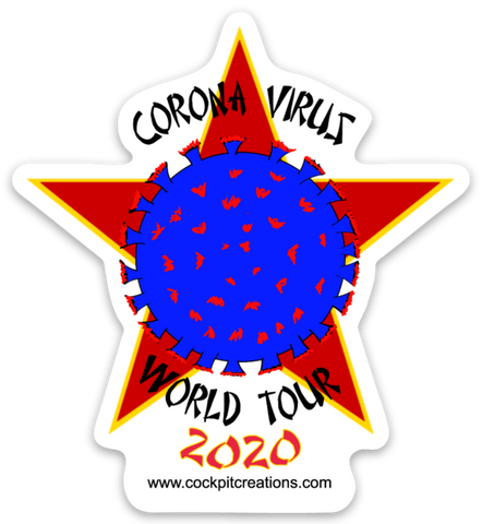 Corona Virus World Tour 2020 Sticker