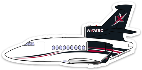 Falcon N475BC Sticker
