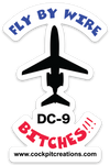 Fly By Wire DC-9 Sticker