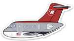 Flying Bowling Shoe DC-9 Sticker