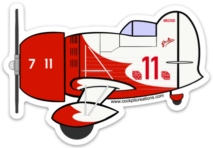 Gee Bee Racer Sticker