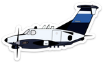 JetBlue RC-12X Sticker