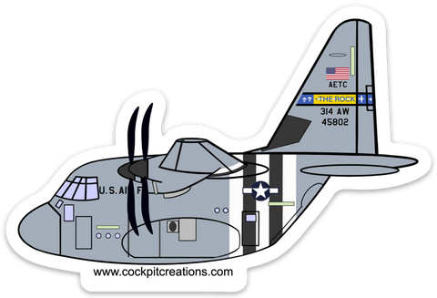 C-130 J D-Day LIT Sticker