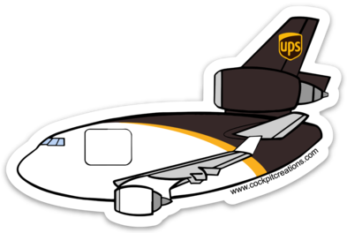 MD-11 UPS Sticker
