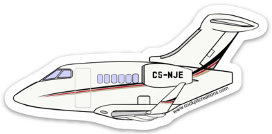 Challenger 350 NetJets Europe Sticker