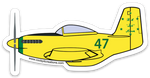 P-51 Bob Hoover Ole Yeller Sticker