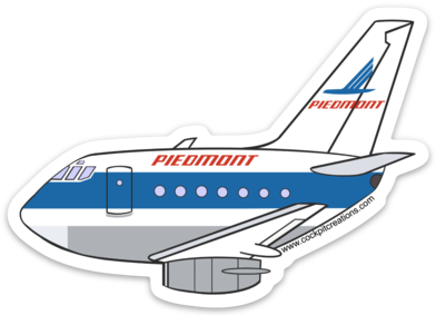 Piedmont 737-200 Sticker