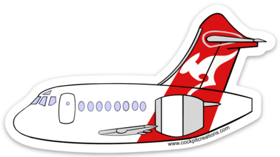 Qantas 717 Sticker