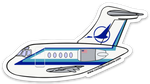 DC-9 Republic Airlines Sticker